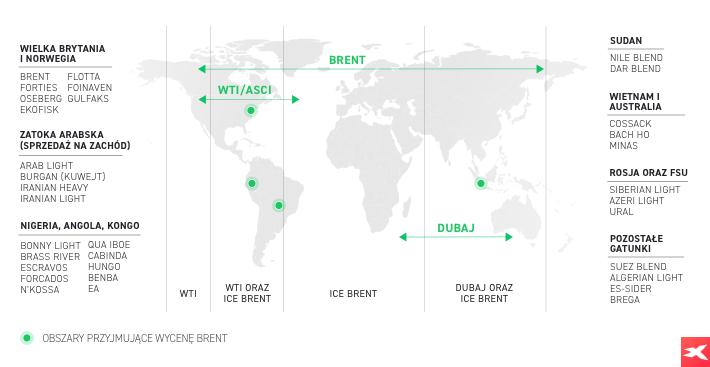Ropa - mapa świata